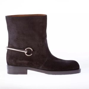 NEW NEVER WORN gucci horsebit suede ankle boot
